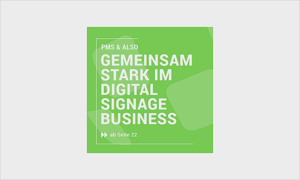 """""""Digital Signage ist in Bewegung"""" ein Artikel aus der ALSO Point über starke Partner, Customizing und wahre Business Cases"""