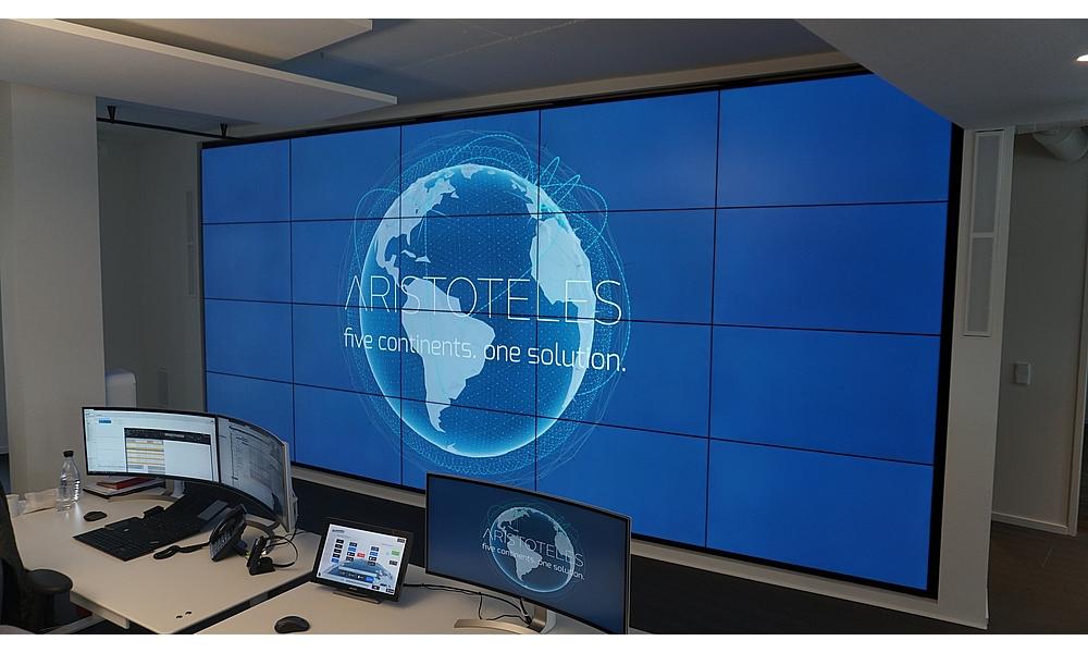 Eine der größten Videowände im Büroumfeld – Kaiserwetter's Data Wall