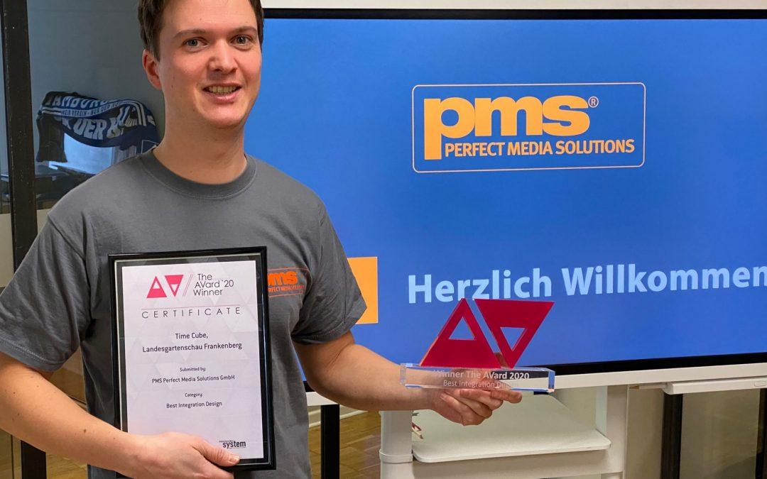 """""""Best Integration Design"""" – PMS gewinnt AVard 2020"""